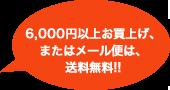6,000円以上お買上げ、またはメール便は。送料無料!!